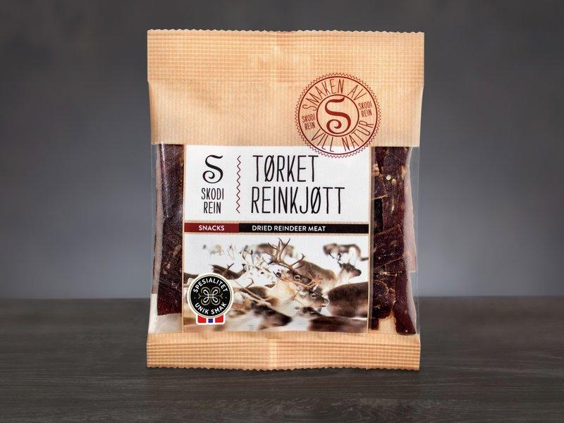 Tørket reindsyrkjøtt fra Skodi rein