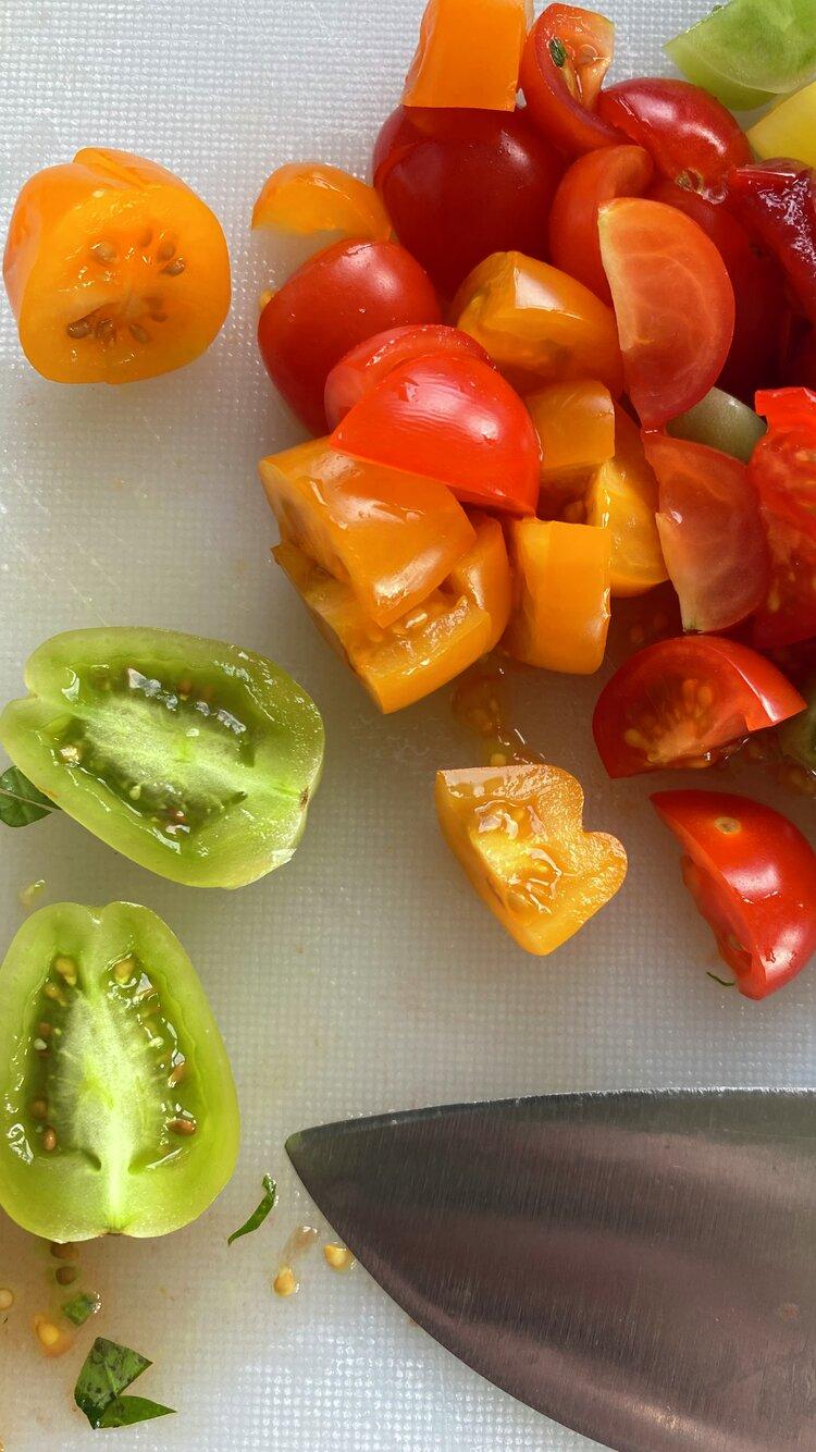 Kuttet tomat, norske tomater