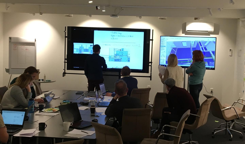 AF sitt prosjektteam i Bjørvika
