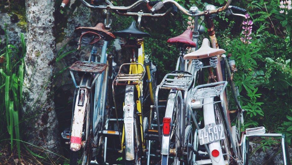 Cyklar i cykelstället