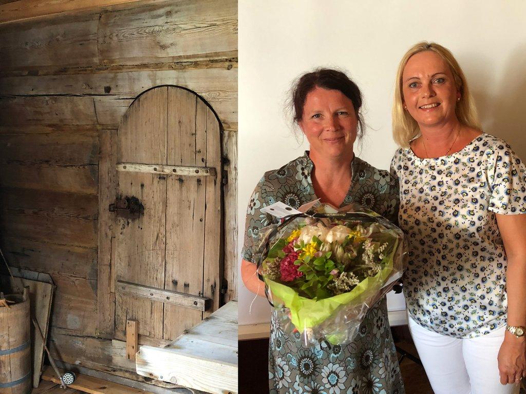 Heidi Vallestad og Anne Lilleaasen på Fredingsmarkering på Flatheim