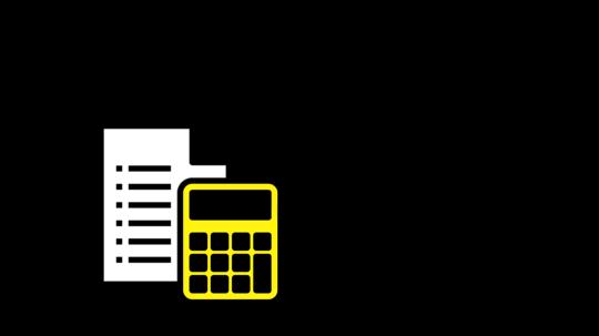 Ikon av kalkulator PC og dokument