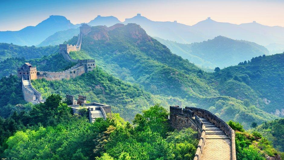 Näkymä Kiinan muurista