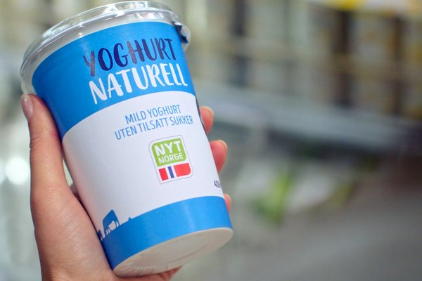 Norsk yoghurt merket med Nyt Norge