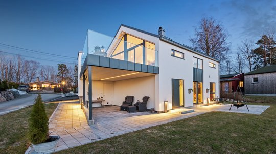 HIBA Hus egen type levert av Byggmester Ulf Johannessen AS