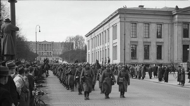 Tyske soldater i Oslo 1940