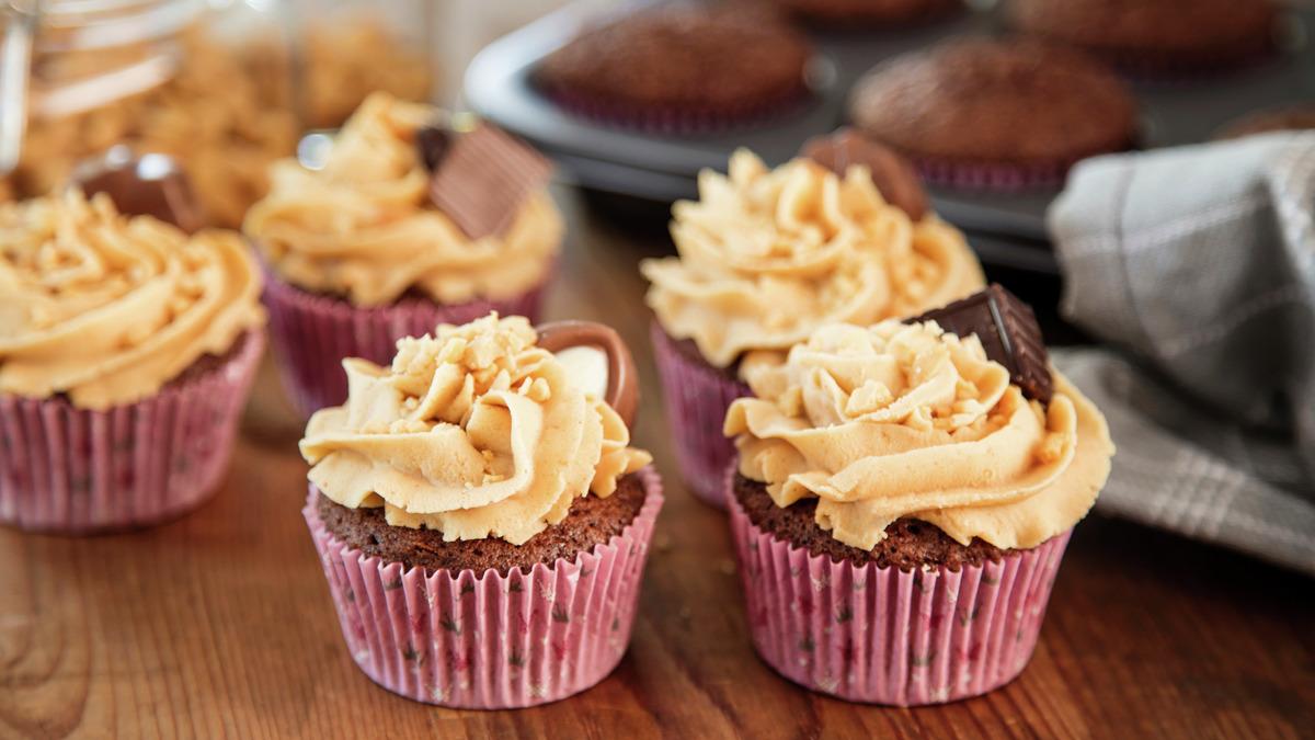 Peanøtt- og sjokolademuffins