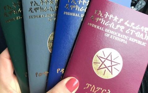 Bilde av etiopiske pass