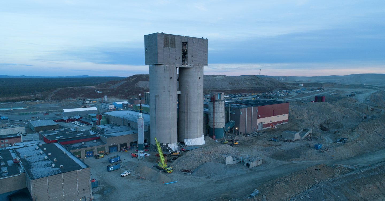 Sprengning av siloer i Gällivare