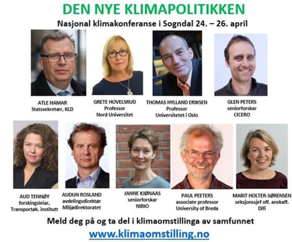 Plakat for nasjonal klimakonferanse i Sogndal 2018