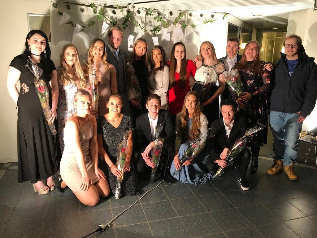 Gruppebilete av arrangørklassa for Sogndal filmfestival 2018