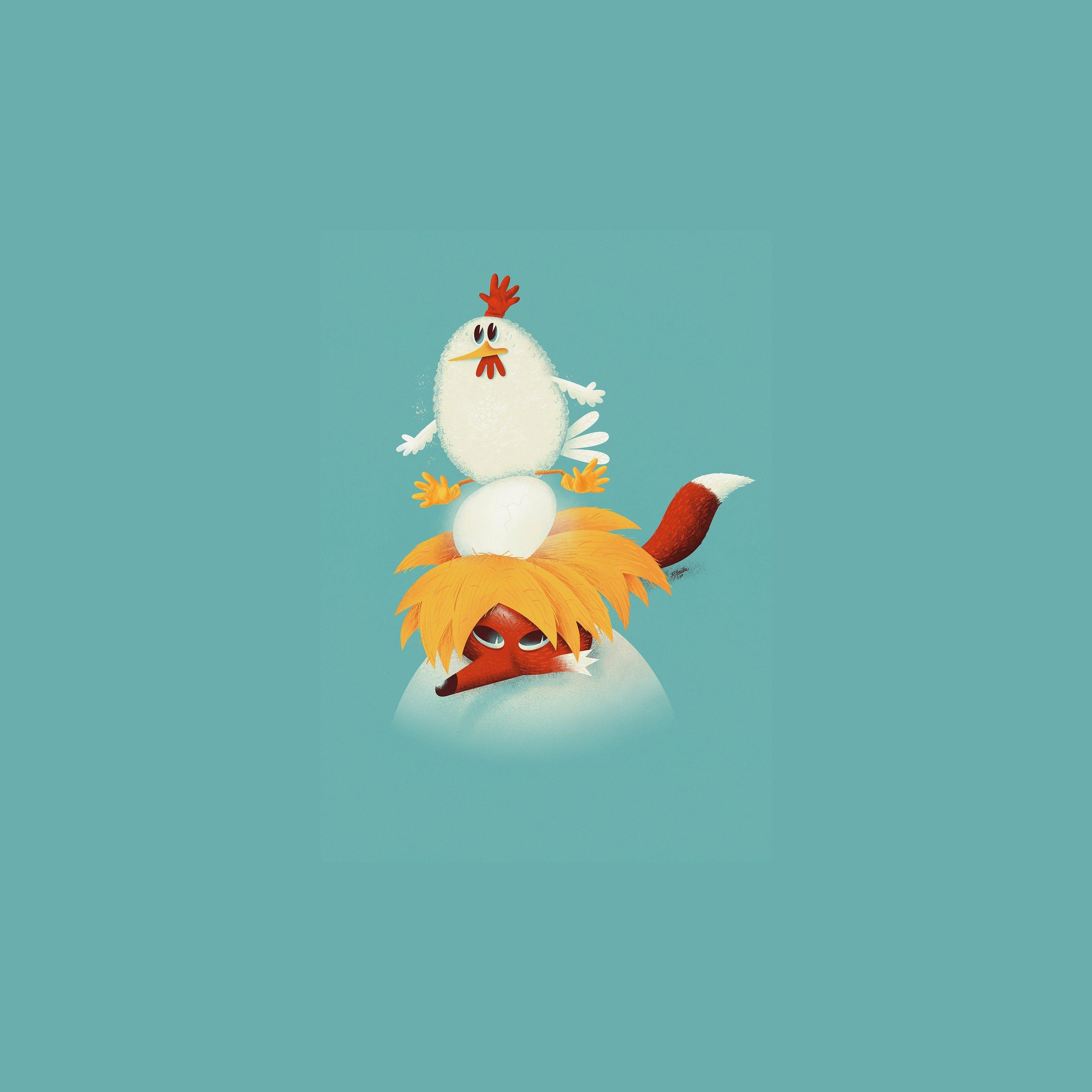 Høna, egget og reven
