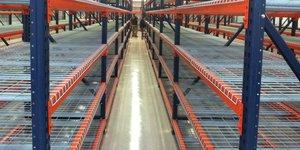 empty storage shelves