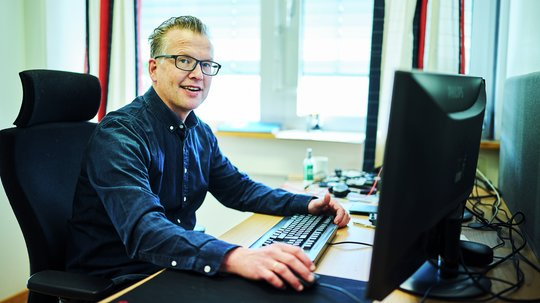 Digital- og markedsføringssjef, Tore Røsvoll.