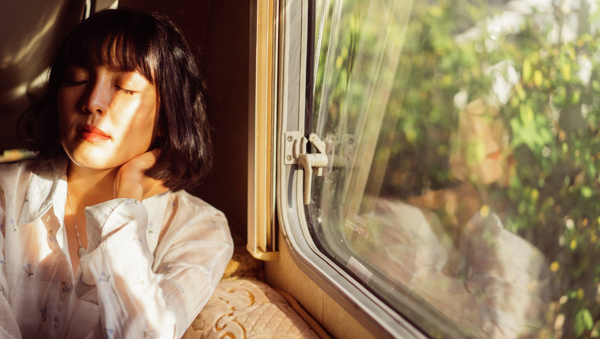 Kvinna på resa