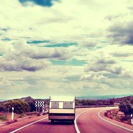 Husvagn på väg