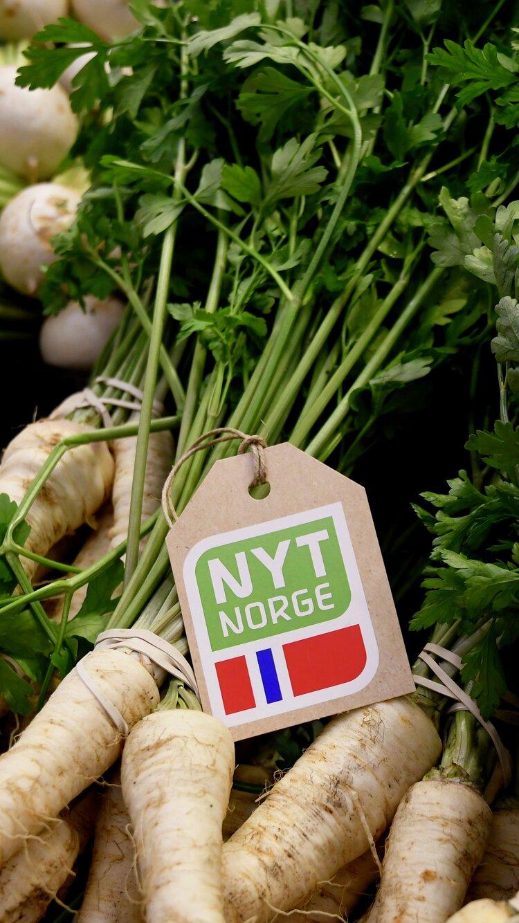 Grønnsaker med Nyt Norge