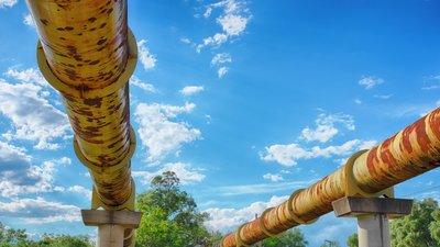 rusty pipelines.