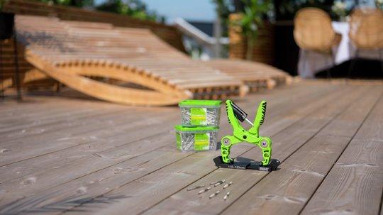 Det er viktig å velge rett skrue til rett terrasse. Foto: Essve