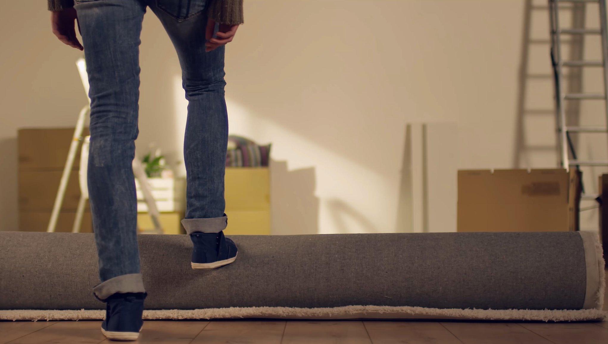 Flyttar mattan