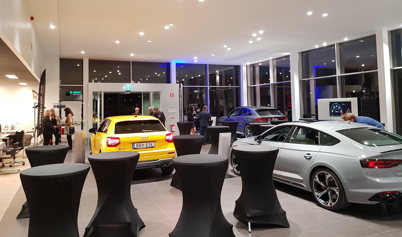 Interiör från den nya Audi-hallen