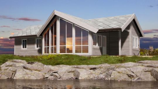 HIBA hus hytte ved sjøen