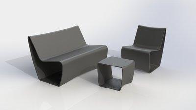 muovisia huonekaluja