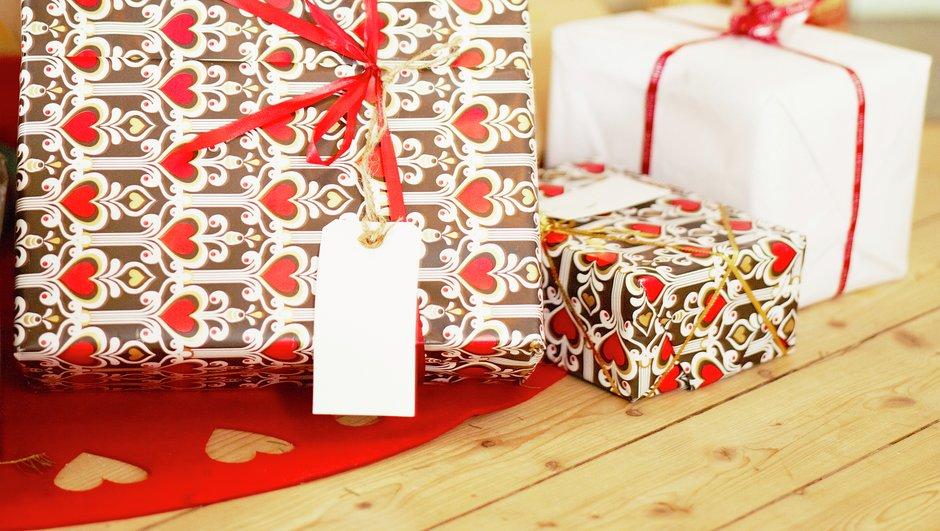 julklappar på golvet