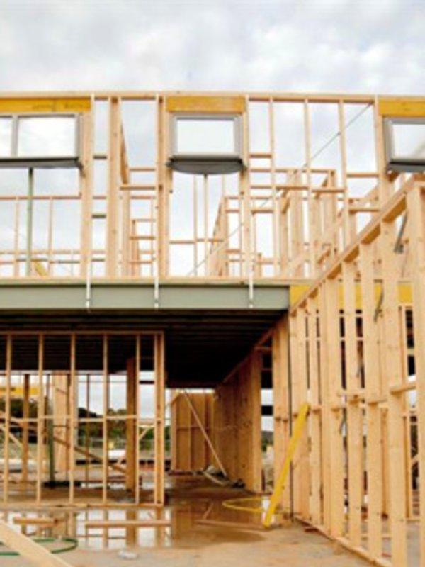 Reisverk hus bygget med precut