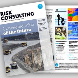 cover page of risk consulting magazine