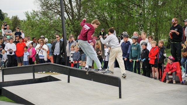 Åpning av skateparken