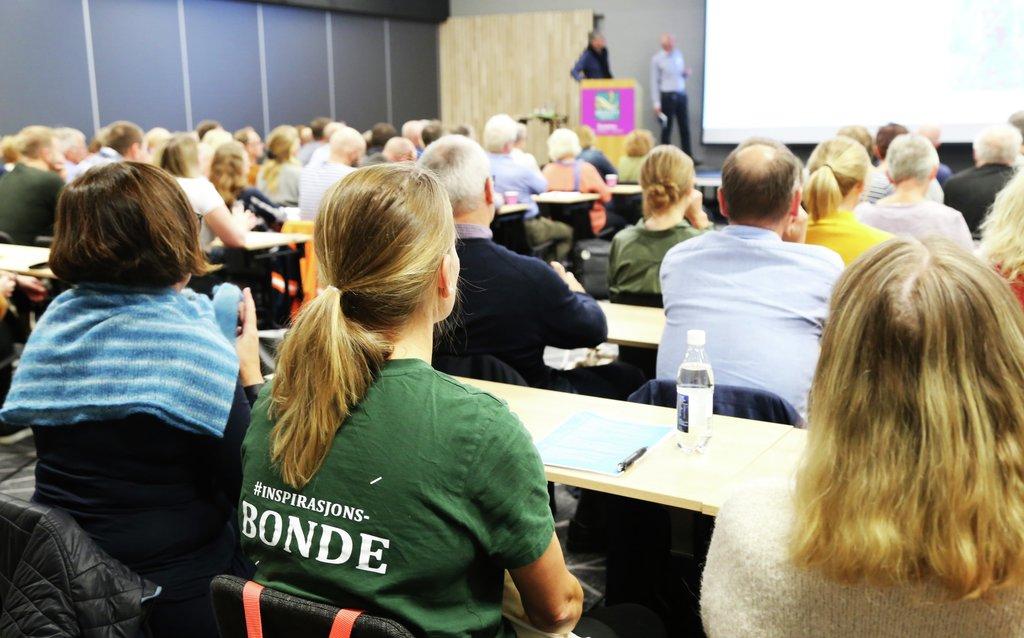 Foto frå landbrukskonferansen Klimaklokt vestlandslandbruk i Sogndal i september 2019.