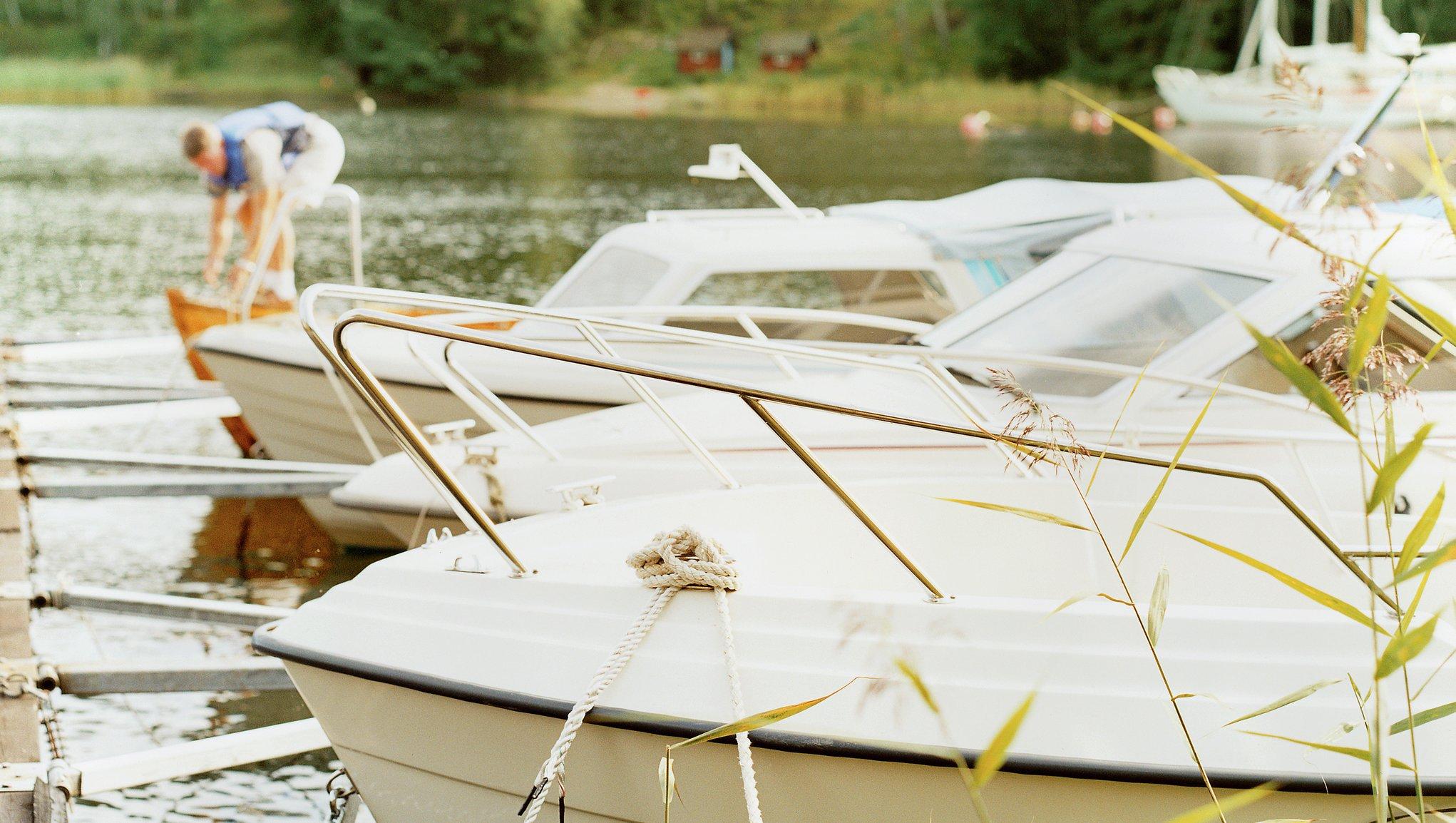 Sjösätt båten