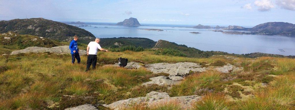 Utsikta frå dagstyrhytte tomta i Fjaler kommune