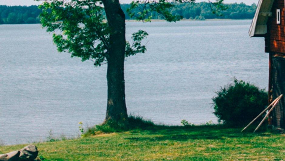 Hus nära vatten