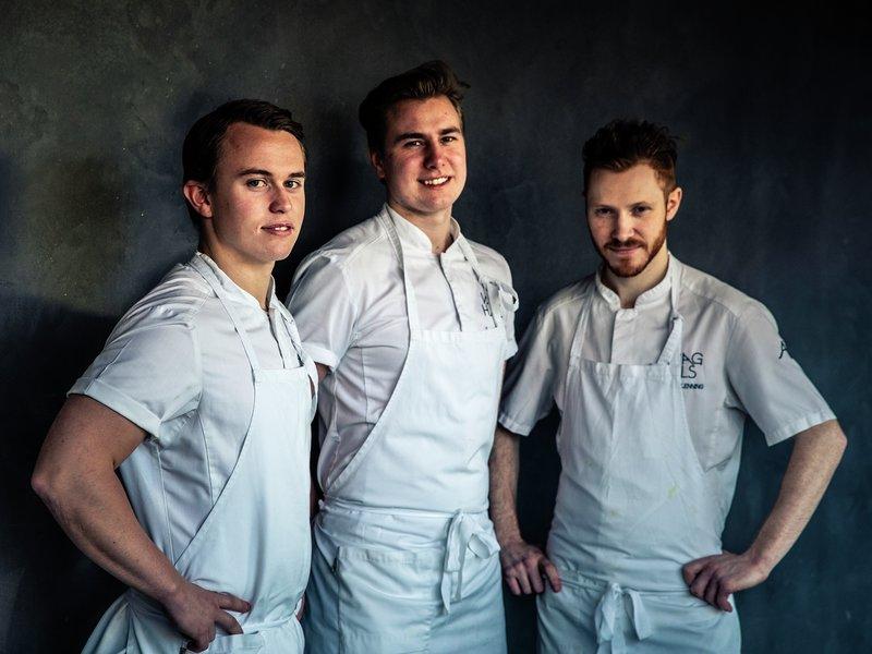Kokkene Aron Espeland, Tord Johnseter og Sigurd Glenning
