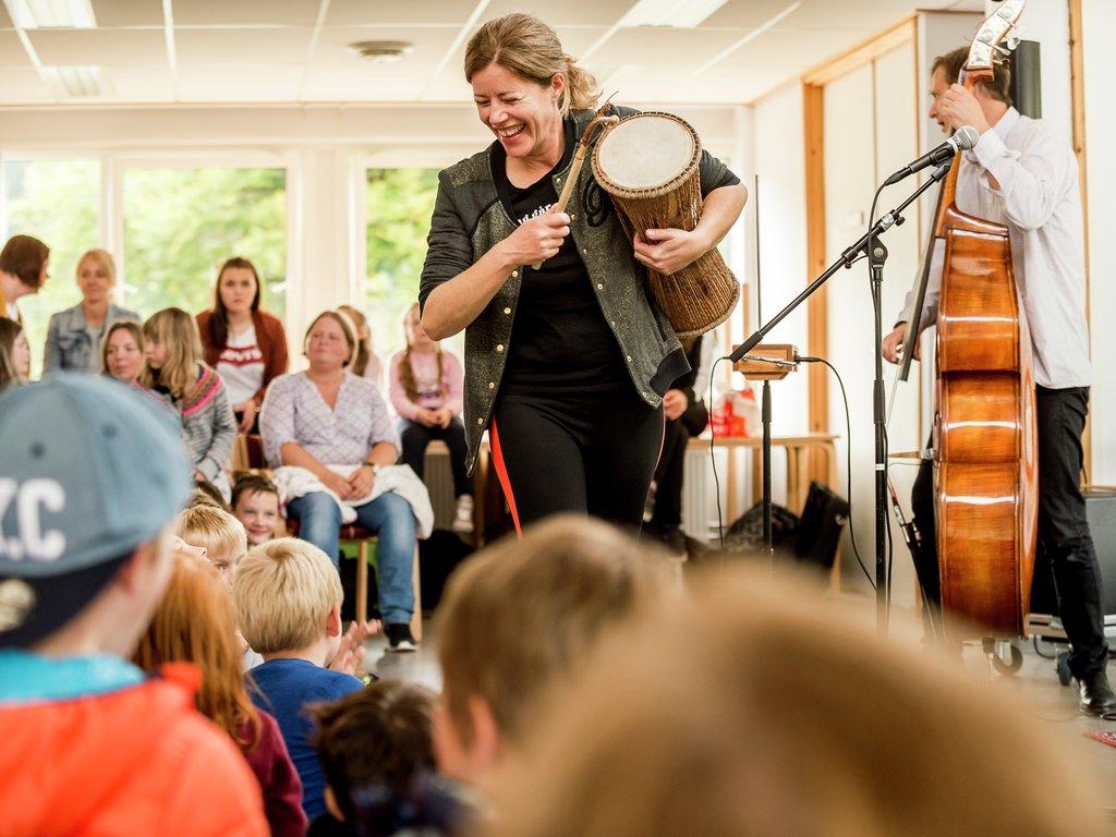 Konsert i Den kulturelle skulesekken. Foto: David Zadig.
