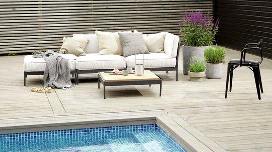 TREBITT 90026 Naturlig Sølvgrå - JOTUN 0734 Brunsvart Fasade