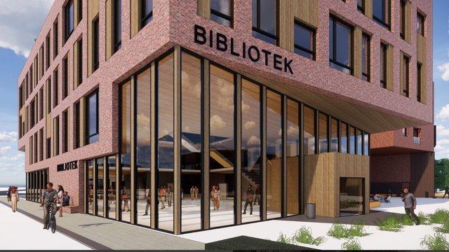 Illustrasjonsbilde av biblioteket i Lillestrøm